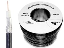 100m TRIAX Domestic RG6 Black PVC