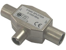 102-FF-M 2 Way Splitter Metal Y Shape