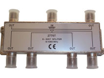 INTERNAL 6 Way F Splitter (5-1000MHz)