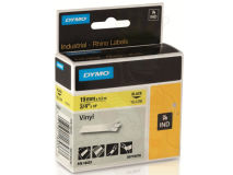 (5) DYMO PRO Black Text- Yellow Vinyl 19mm