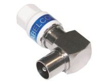 (1) CABELCON Coax Plug Male RIGHT ANGLE