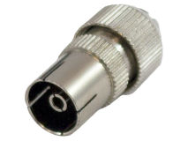(50) METAL Coax Plug FEMALE Brass (Tub)