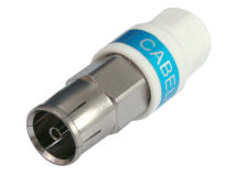 (1) CABELCON Coax Plug FEMALE Self-Install