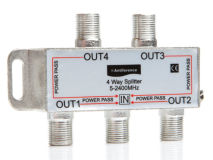 ANTIFERENCE 4 Way F Splitter (5-2400MHz)