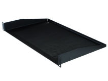 PENN-ELCOM 1U Vented Rack Shelf Black