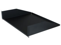 PENN-ELCOM 2U Plain Rack Shelf Black