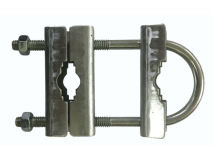 "6"" x 2"" TRIPLE FM Clamp c/w 3 Channels"