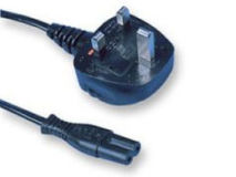 2m UK Mains 3A Plug to C7 (Figure 8)