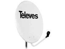 TELEVES 1.1m Solid Dish Steel White(Boxed)