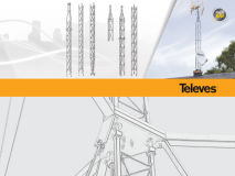 TELEVES 360 TOWER Mid Section White Galv