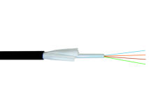 (m) CLT Fibre Optic 4 Core Cable Black