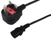 2m UK Mains 10A Plug to C13 (Kettle)