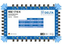 DELTA MSE 1716K CASCADE Multiswitch