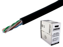 305m SAMSON CAT6 PVC External Black (Box)