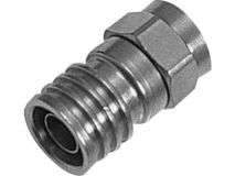 (1) CABELCON Crimp F Plug 1mm (Single)