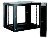 ALL-RACK Wall Cabinet 9U Black HINGED