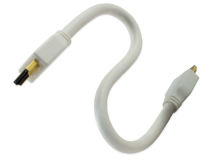 ISIX 0.3m Flexi Form HDMI Lead WHITE