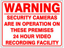 A4 CCTV WARNING SIGN