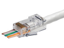 (100) KORDZ® RJ45 CAT6 Push Through Crimp