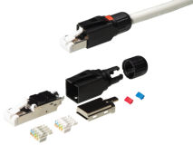 (1) KORDZ® RJ45 Tool-Less CAT6A Shielded