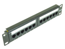 "ALL-RACK 10"" SOHO 12 Port CAT6 Patch Panel"