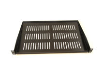 ALL-RACK Rack 1U Black Shelf CANTILEVER
