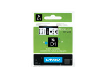 (5) DYMO D1 Black Text on White Tape 12mm