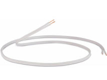 100m QED 2 Core Speaker Cable WHITE