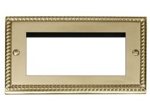 CLICK DECO Outlet Georgian Brass 4 Module