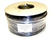 100m WEBNET CAT5e PVC Black (Drum)