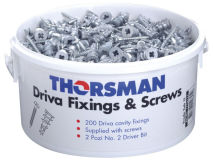 (200) TRADETUB Cavity Wall Fixing & Screws