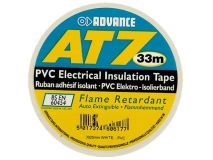 ADVANCE 19mm x 33m Standard PVC Tape WHITE