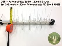 1m x150mm Polycarbonate PIGEON SPIKES