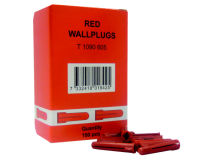 (100) Red Rawlplugs 5.5mm