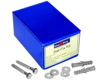 (50) 10mm x 60mm 'LONGER' SAT FIXING Kit