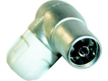 (1) TELEVES Coax Plug FEMALE RIGHT ANGLE